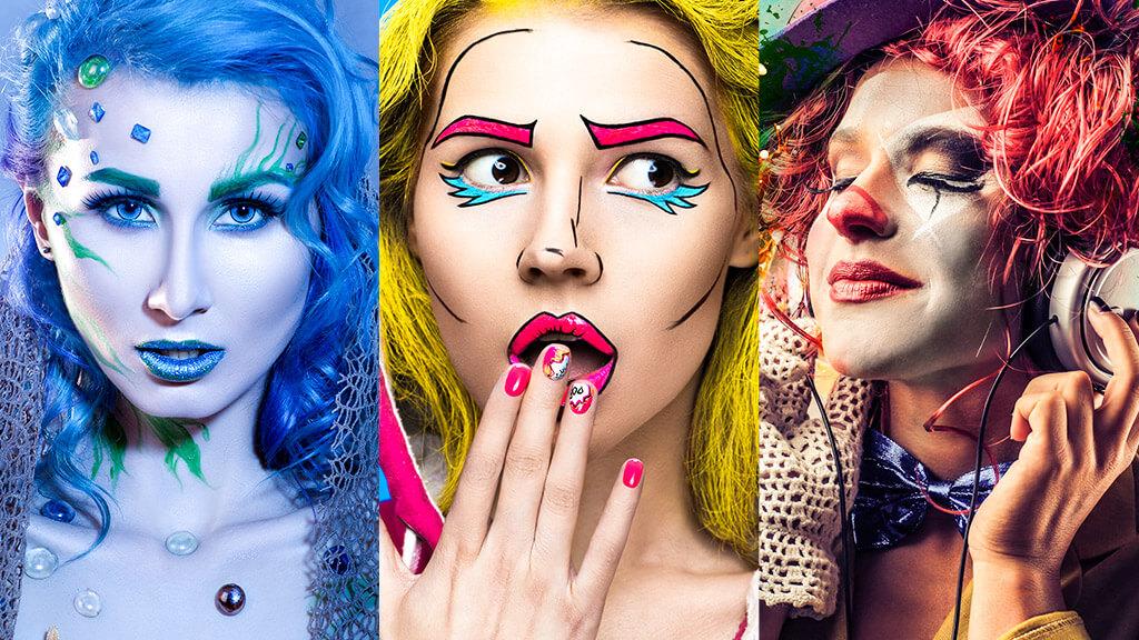 Três ideias criativas de maquiagem para o Halloween